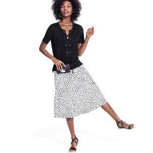 who what wear Birdcage Polka Dot Midi Full Skirt
